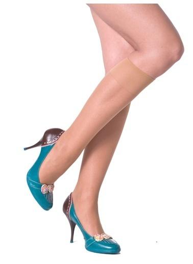 Pierre Cardin 3'Lü Parlak Dizaltı Çorap Ten